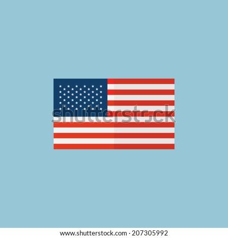 american flag, vector - stock vector