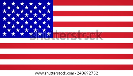American Flag Vector - stock vector