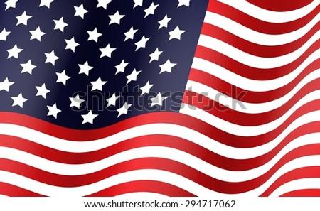 American flag.vector - stock vector