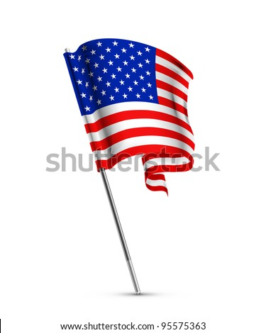 American flag, vector - stock vector