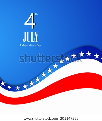 American Flag, Vector background for Independence Day  - stock vector