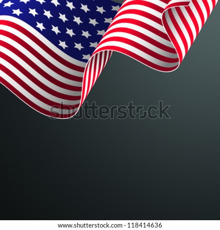 American flag vector illustration - stock vector