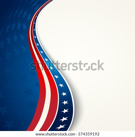 American Flag, Vector patriotic background for Independence Day, Memorial Day - stock vector
