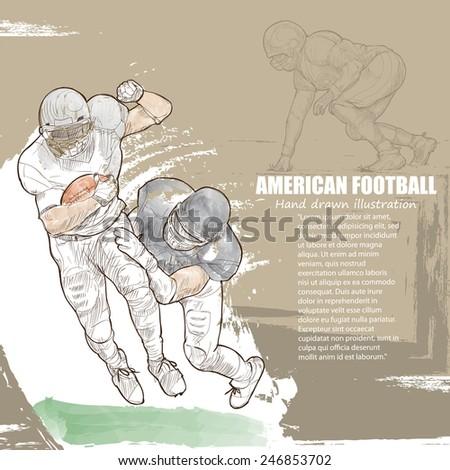 American Football background Design. - stock vector