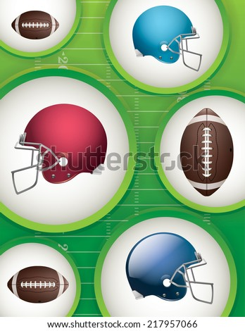 American football background. Vector EPS 10. EPS file contains transparencies. - stock vector