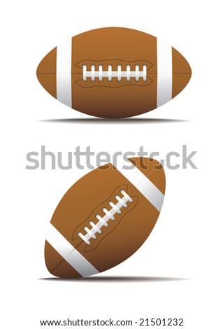 american football ball - stock vector