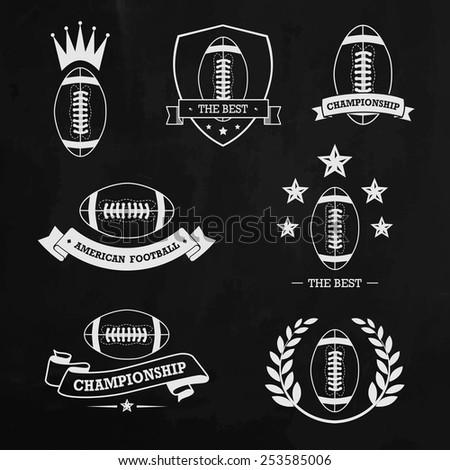 American football chalk - stock vector