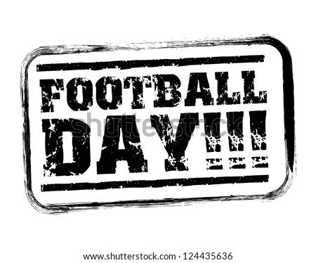 american football day seal over white background. vector - stock vector