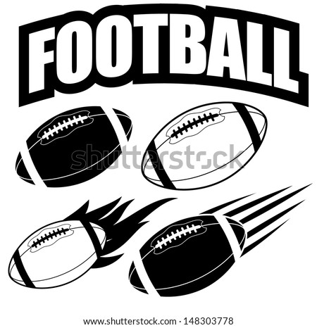 american football design elements eps 10 stock vector 148303778