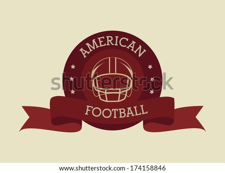 american football design over beige  background vector illustration  - stock vector