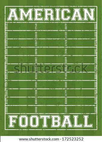 american football design over field  background vector illustration  - stock vector