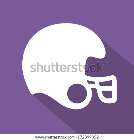 american football design over purple  background vector illustration  - stock vector