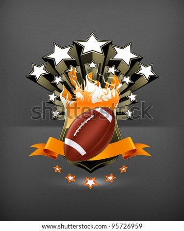 American Football Emblem, vector - stock vector
