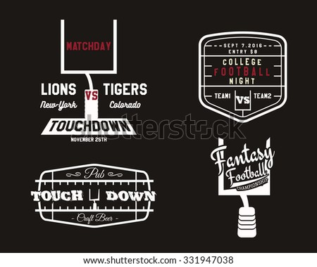 American football field goal team badge stock vector American football style t shirts