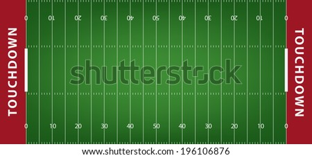 American football field background with artificial turf. soccer field view from above. eps10 format vector illustration  - stock vector