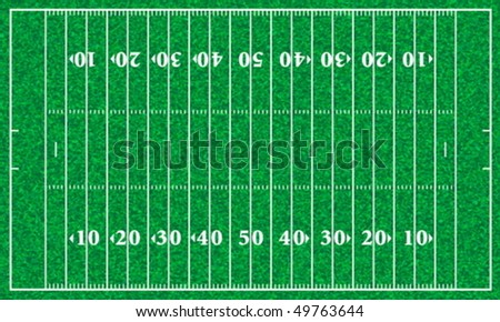 American football field with grass texture. Vector illustration. - stock vector