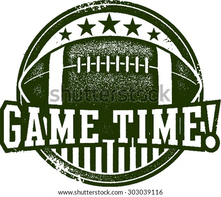 American Football Game Time Stamp - stock vector