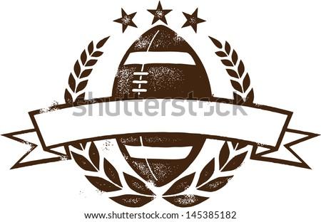 American Football Grunge Laurel Wreath - stock vector