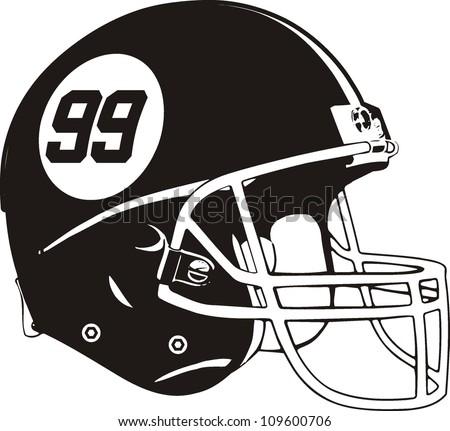 American football helmet - stock vector