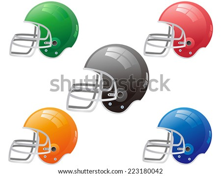 American football helmet vector - stock vector