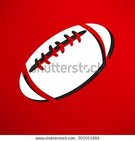 american football icon isolated - stock vector