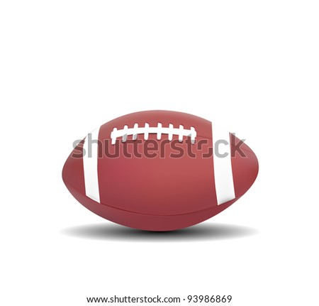 American Football isolated on white background - stock vector