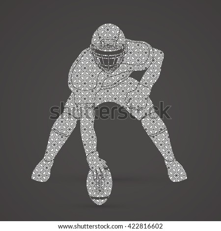 American football player posing designed using luxury pattern graphic vector - stock vector