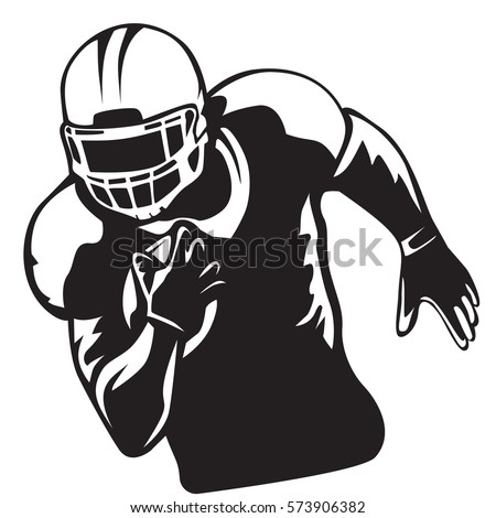 american football player quarterback isolated on stock vector rh shutterstock com american football vector black and white american football vector