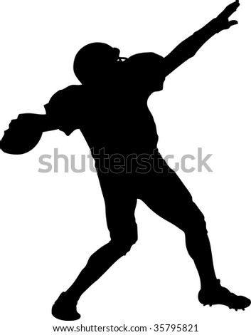 american football player throwing a ball