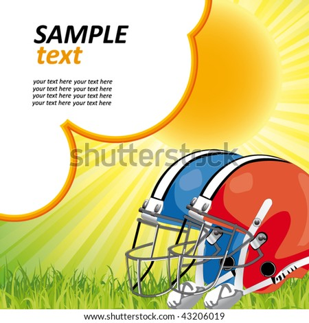 american football poster - stock vector