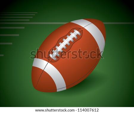 American football, ragby - stock vector