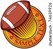 american football (rugby) club emblem - stock vector