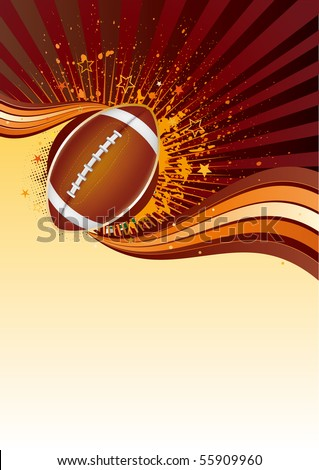 american football sport design element