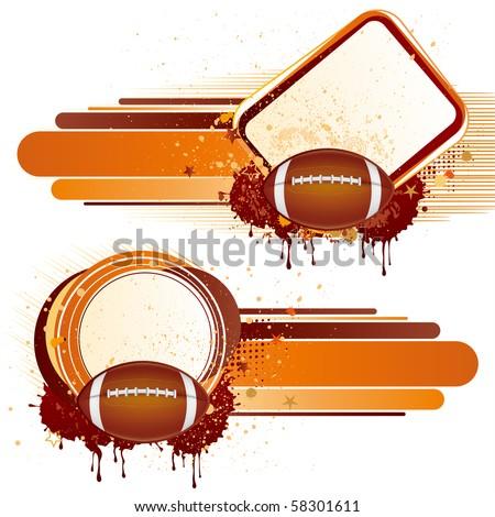American football sport,vector design elements - stock vector