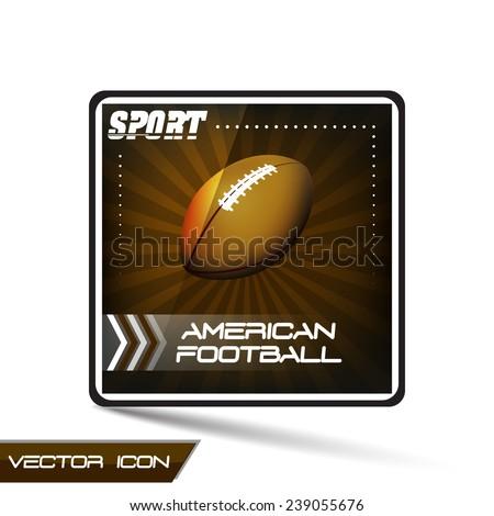 American football sport vector icon - stock vector