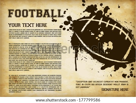 American Football Template - suitable for posters, flyers, brochures, banners, badges, labels, wallpapers, web design, advertising, publicity or any branding. - stock vector