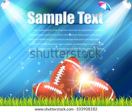 American Football Theme Vector Design - stock vector