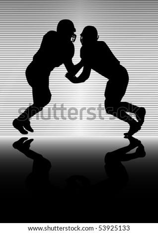 American football vector  duel illustration - stock vector