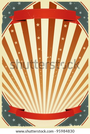 American Fourth Of July Banners/ Illustration of a grunge fourth of july summer holidays poster. Use it as a  background for national holidays, circus announcement or entertainment events - stock vector