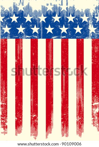 American grunge flag. An american grunge flag for a background of a poster. - stock vector