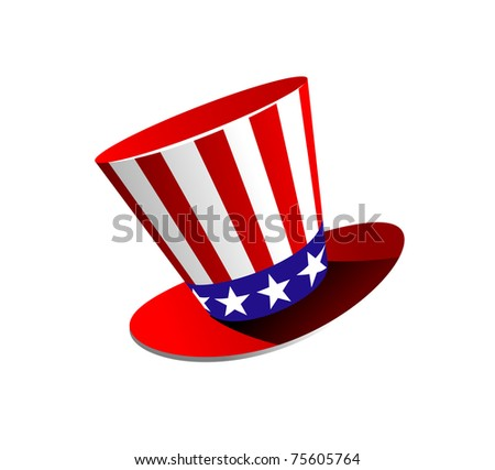 American hat symbol with stars