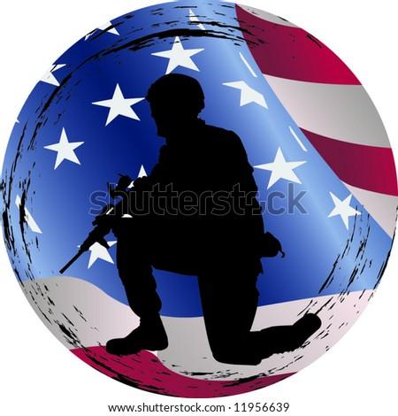 American hero - stock vector