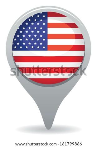 american icon - stock vector