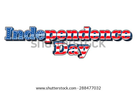 American Independence day, vector - stock vector