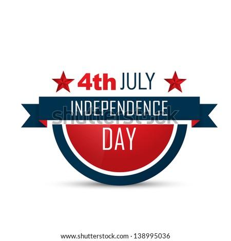 american independence day vector label design - stock vector