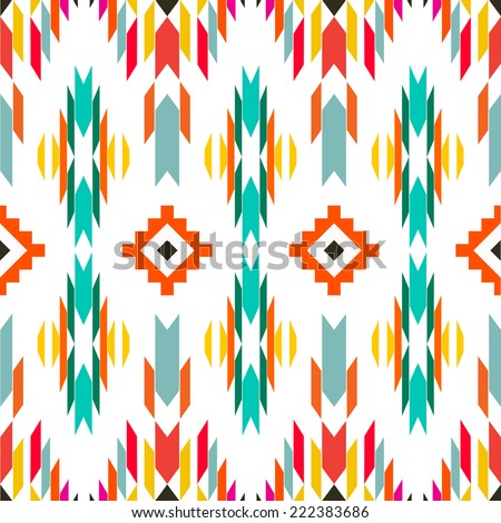 American indian ethnic geometric seamless pattern.