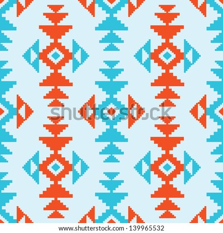 American indian style seamless pattern - stock vector