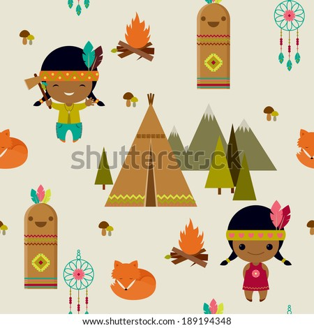 american indians clipart seamless wallpaper stock vector hd royalty rh shutterstock com indian clipart indiana clipart free