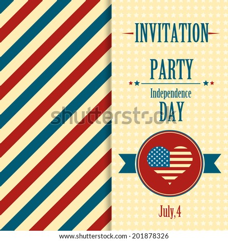 American invitation - stock vector