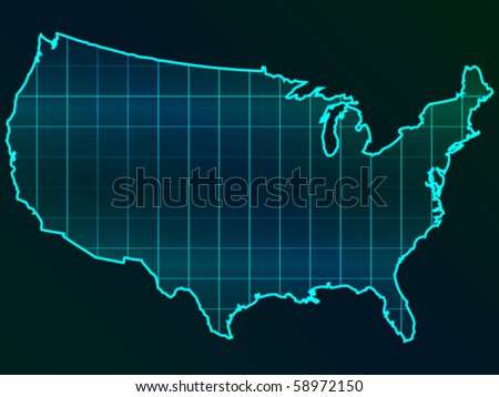 american map - stock vector